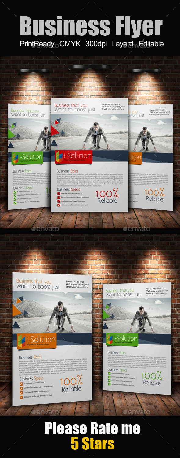 GraphicRiver A4 Business Flyer 10395850