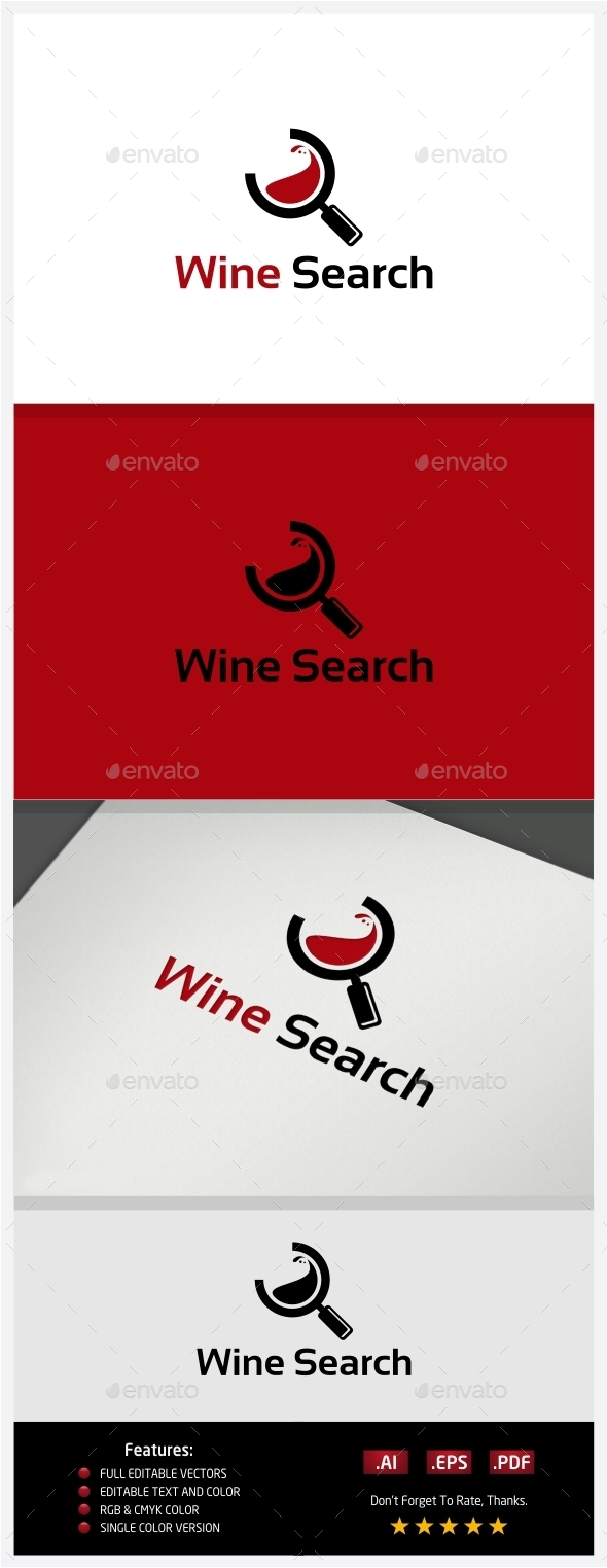 GraphicRiver Wine Search Logo 10395907
