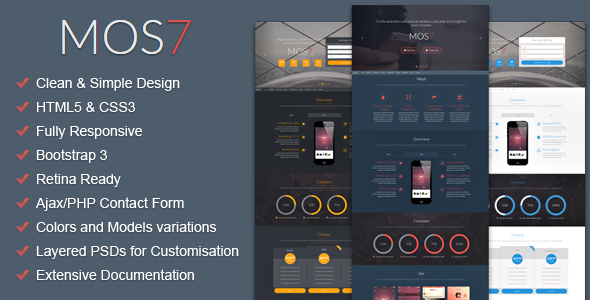ThemeForest Mos7 Responsive Bootstrap 3 App Landing Page 9350398