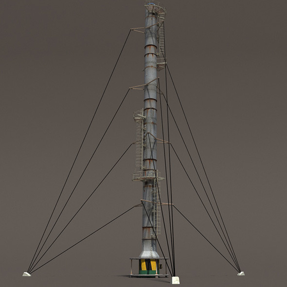 3DOcean Chimney Factory Low Poly 3D Model 10396906