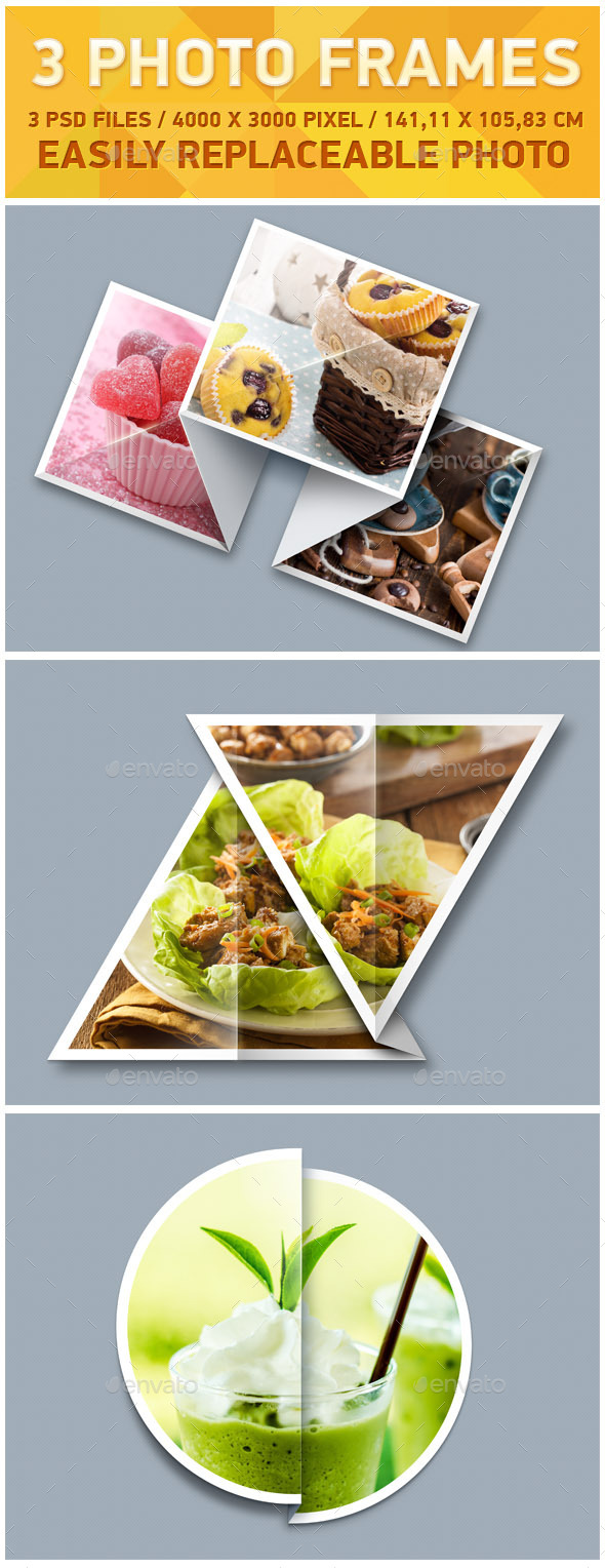 GraphicRiver 3 Photo Frames 10268484