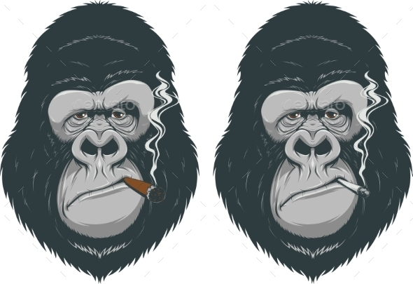 GraphicRiver Monkey with a Cigarette 10397057
