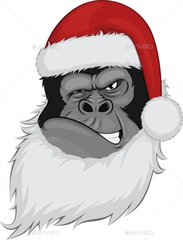 GraphicRiver Head Gorilla in a Cap 10397065
