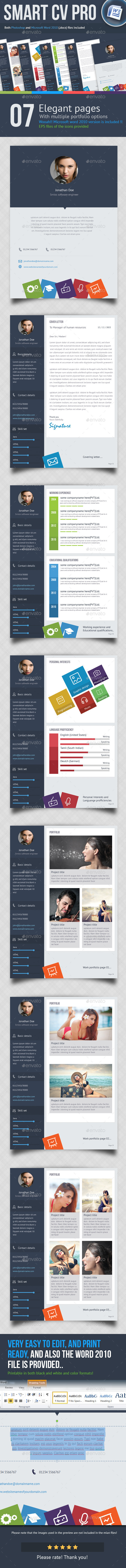 GraphicRiver 7 Page Smart CV 10328158