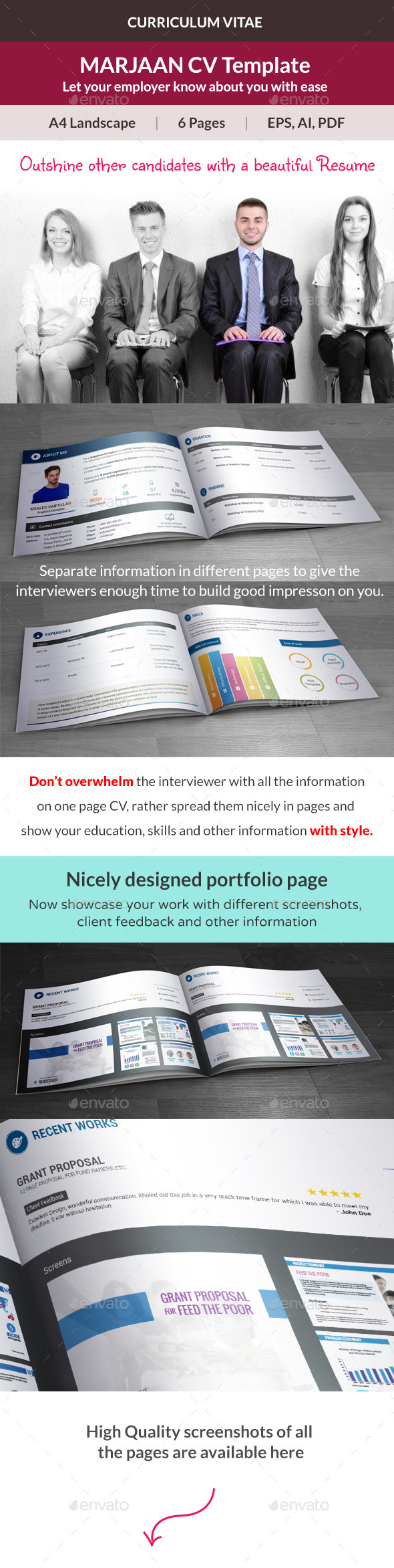 GraphicRiver Marjaan CV Resume Template 10352884