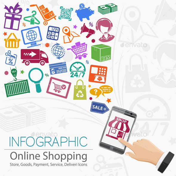 GraphicRiver Internet Shopping Infographic 10397739