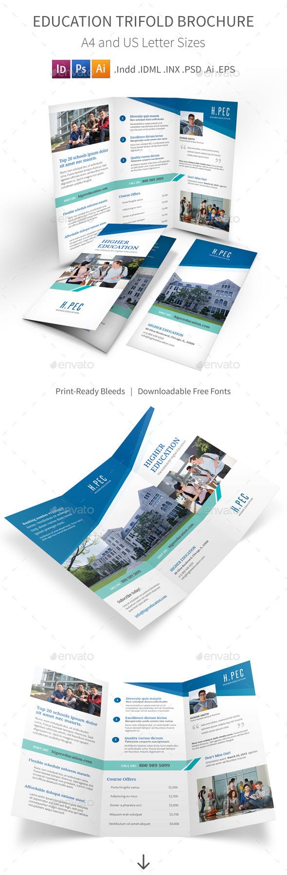 GraphicRiver Education Trifold Brochure 10397956