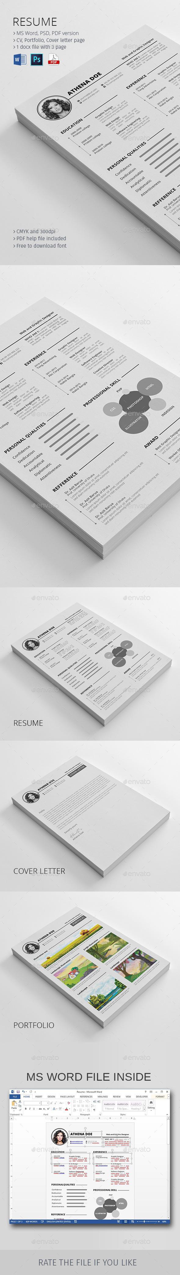 GraphicRiver Resume 10398164