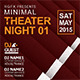 Minimal Theater Night Flyer - GraphicRiver Item for Sale