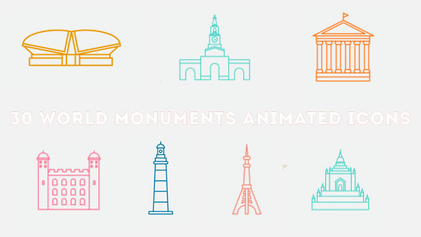 World Monuments Animated Icons Pack 2