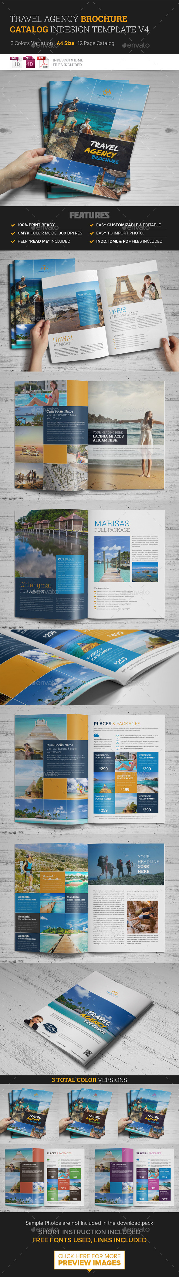 GraphicRiver Travel Agency Brochure Catalog InDesign Template v 10398276