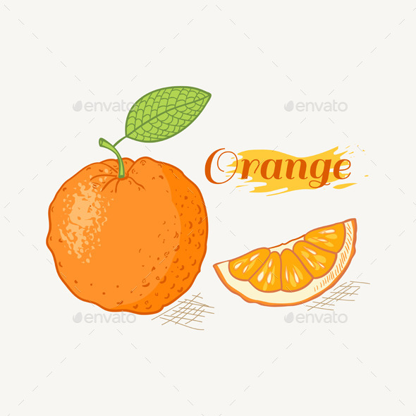 GraphicRiver Orange with Leaf 10378695