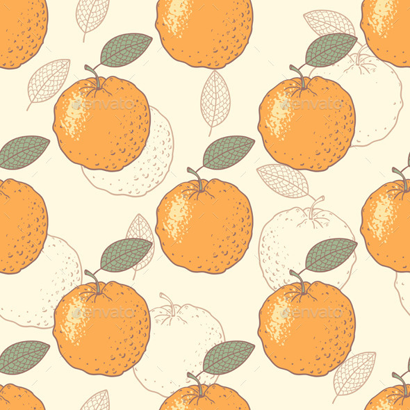 GraphicRiver Oranges Seamless Pattern 10378647