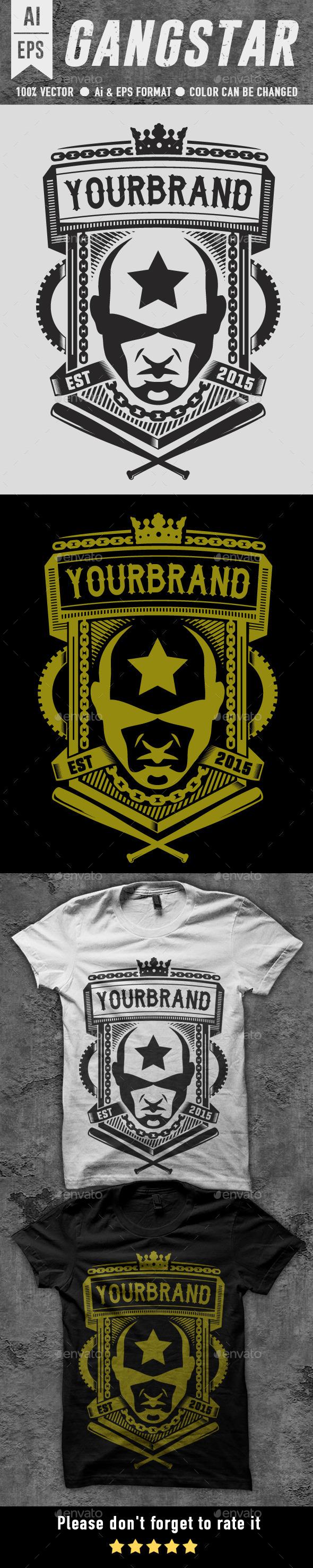 GraphicRiver Gangstar T-shirt Design 10398299