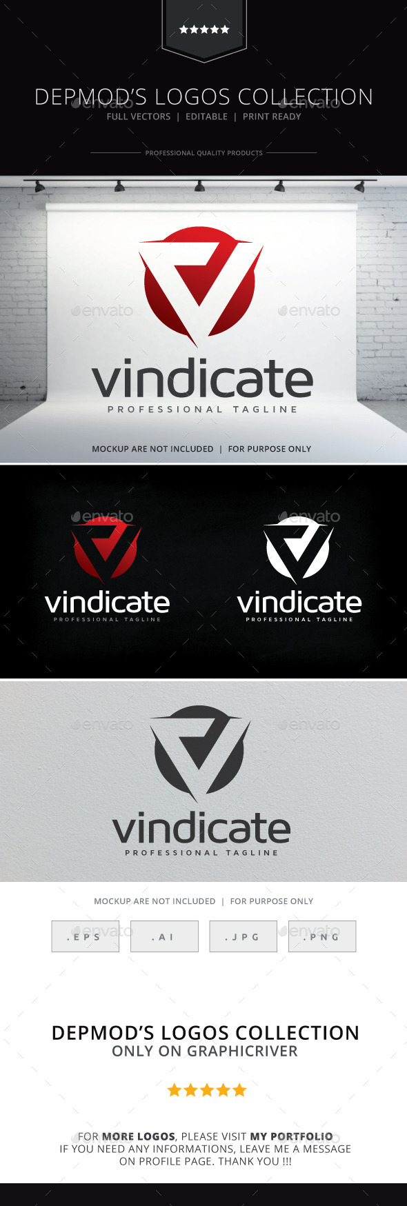 GraphicRiver Vindicate Logo 10398632