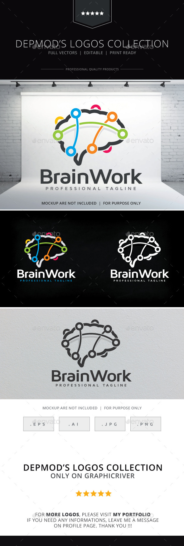 GraphicRiver Brain Work Logo 10398676