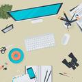 Set of Flat Design Illustration Concept for Business Workspace - PhotoDune Item for Sale