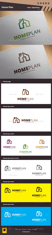 GraphicRiver Home Plan Logo Template 10398842