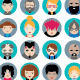 20 Flat Design Avatars Pack - GraphicRiver Item for Sale