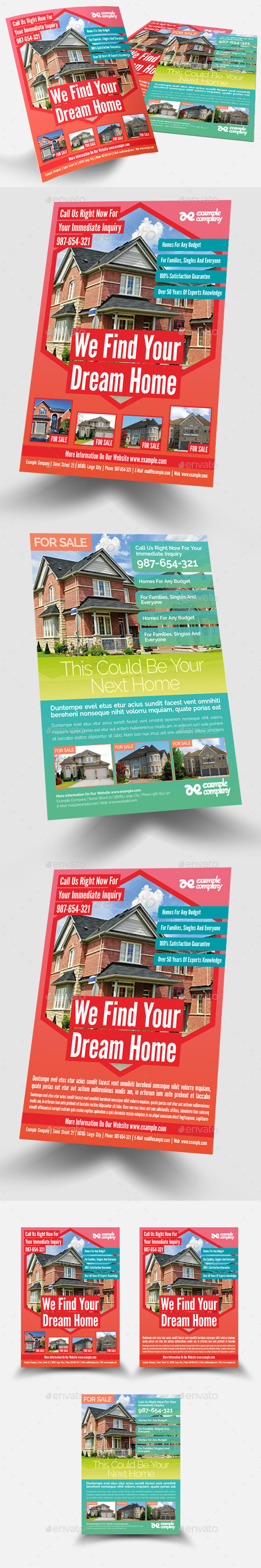 GraphicRiver Real Estate Flyer 10399065