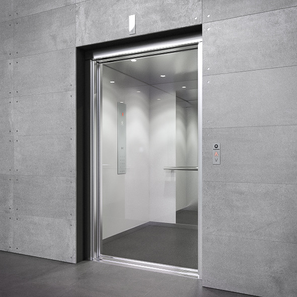 Interior Door Lifts : D model schindler elevator