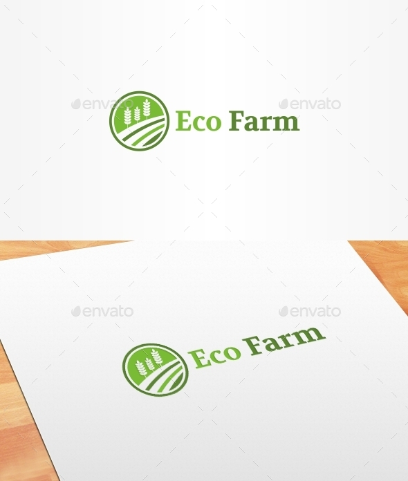 GraphicRiver Eco Farm Logo Template 10399160