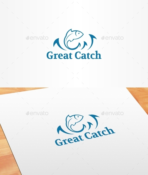 GraphicRiver Great Catch Logo Template 10399236