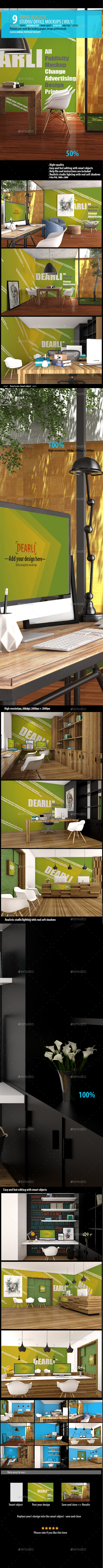 GraphicRiver Studio Office Mockups [Vol1] 10341155
