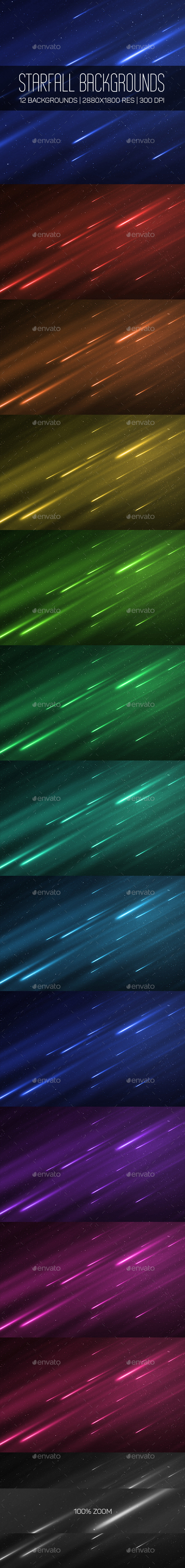 GraphicRiver Starfall Backgrounds 10399299