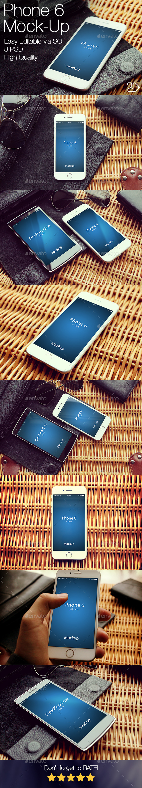 GraphicRiver Edit Phone 6 Mockup v2 10399362