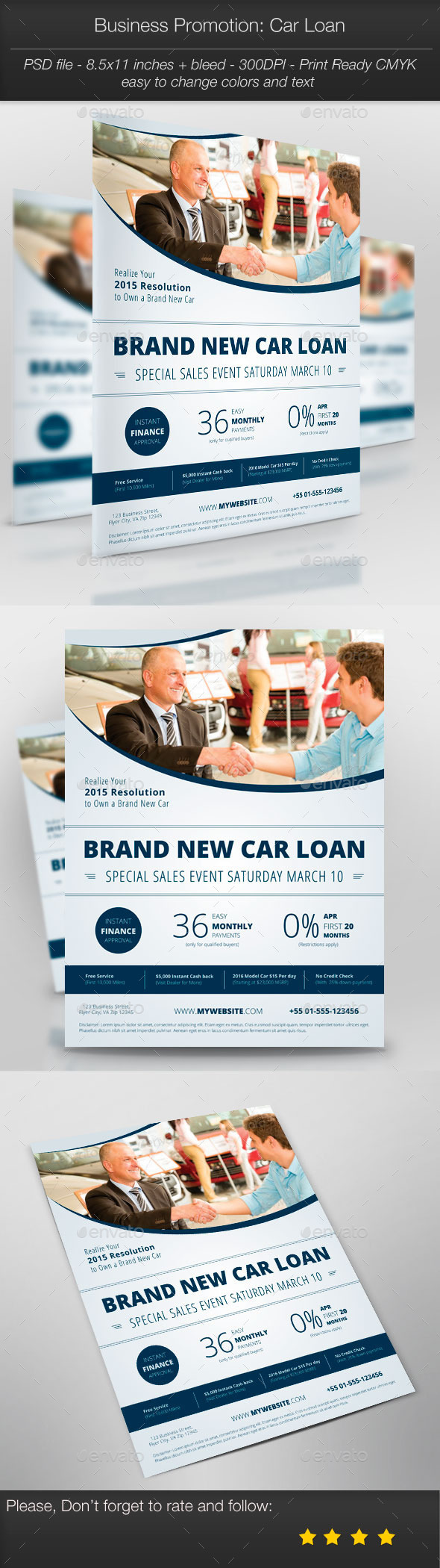 GraphicRiver Business Promotion Car Loan 10399367