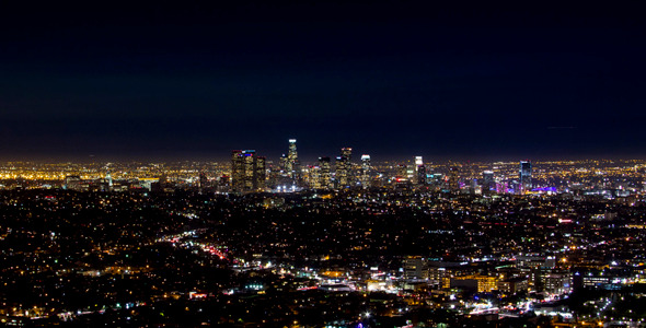 View From Griffith Observatory At Night