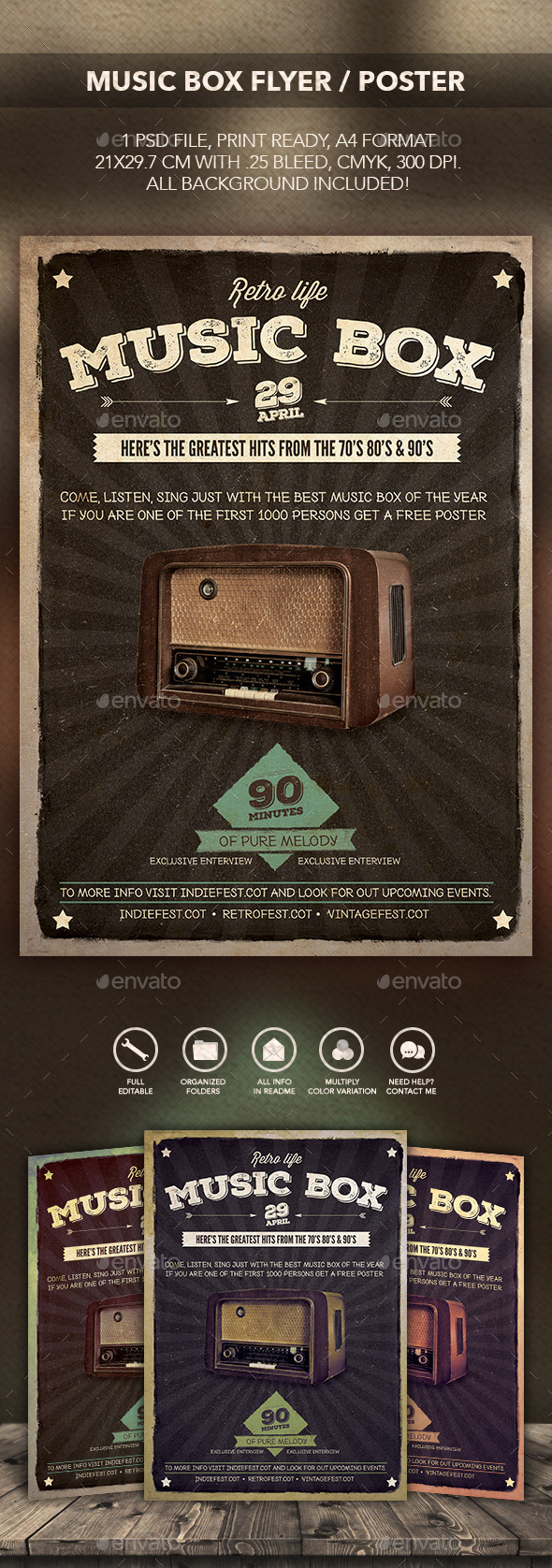 GraphicRiver Music Box Flyer Poster 10399545