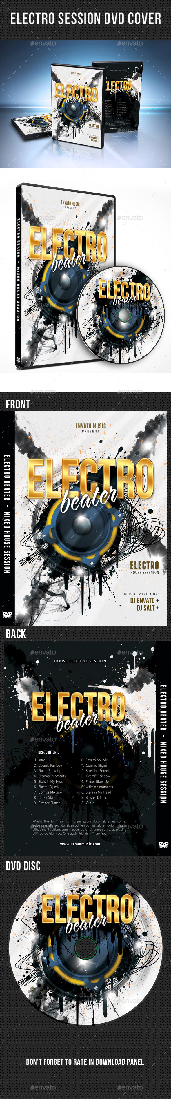 Electro Session DVD Cover Template V02