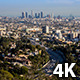 Los Angeles And Hollywood From Mulholland Drive - VideoHive Item for Sale