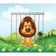 Lion in a Cage  - GraphicRiver Item for Sale