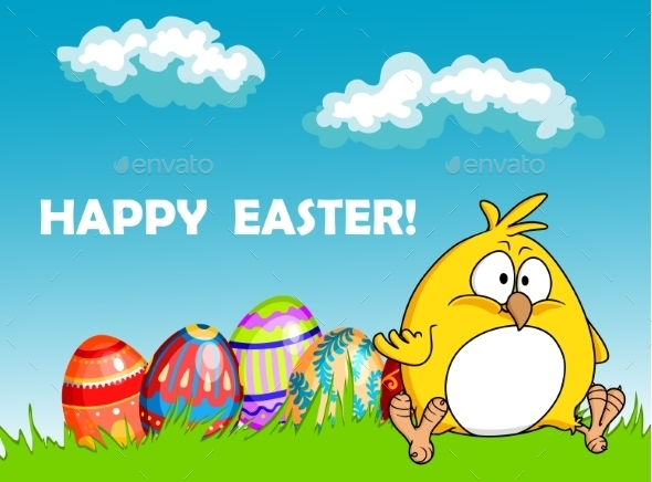 GraphicRiver Happy Easter Greeting Card 10400074