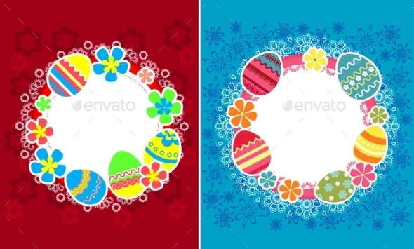 GraphicRiver Decorative Easter Frames 10400080