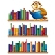 Owl on a Bookshelf  - GraphicRiver Item for Sale