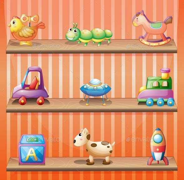 GraphicRiver Shelves with Toys 10400145