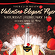 Valentine Elegant Flyer template 4x6``+0.25`` bleed_300 dpi_CMYK mode - GraphicRiver Item for Sale
