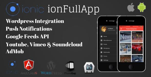 CodeCanyon ionFullApp Ionic PhoneGap Cordova Full Hybrid App 10400343