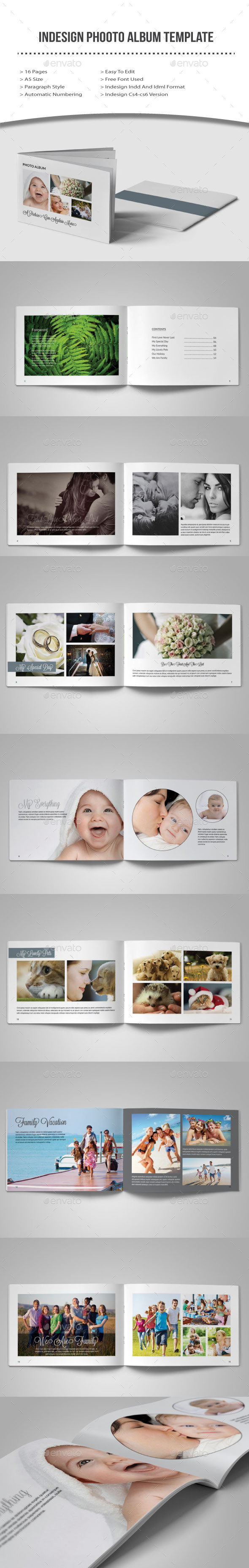 GraphicRiver Indesign Photo Album Template 10400415