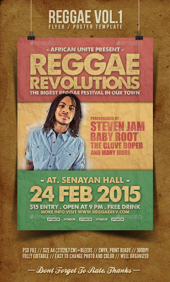 Reggae Flyer Template Vol.1