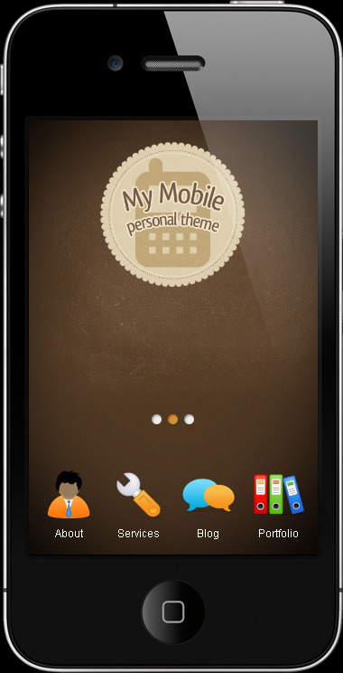 My Mobile Page V3 CSS/Html - personal theme design