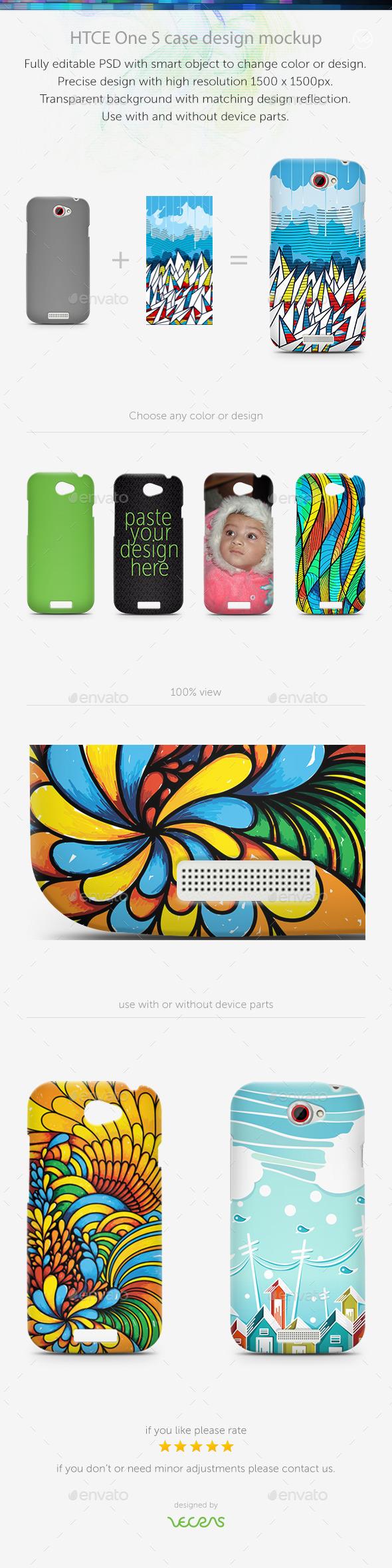 GraphicRiver HTCE One S Case Design Mockup 10401517