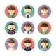 Set of Avatar Icons. Vector Illustration - GraphicRiver Item for Sale