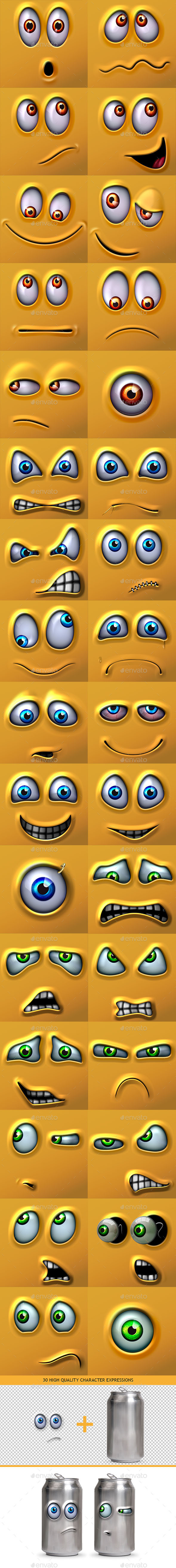 GraphicRiver Character Expressions Bundle 10343000