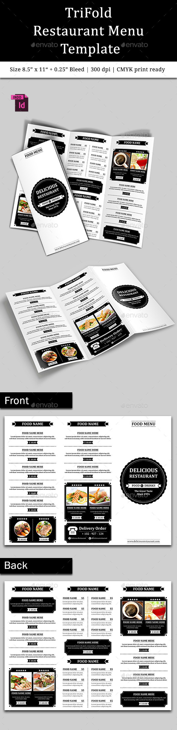 GraphicRiver TriFold Restaurant Menu Template Vol 6 10401951