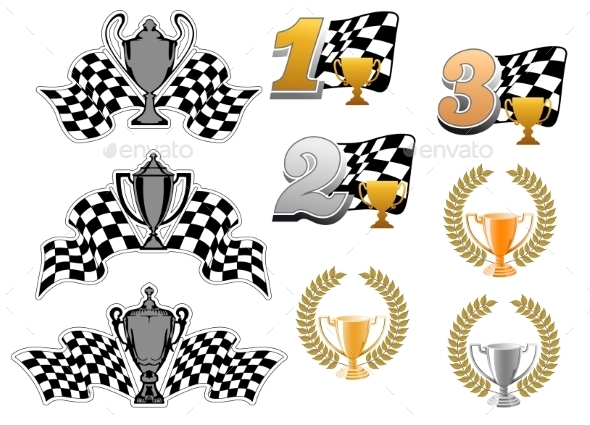 GraphicRiver Set of Motor Sport and Racing Icons 10401957